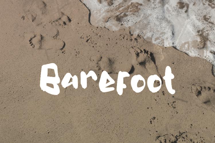 b Barefoot Font