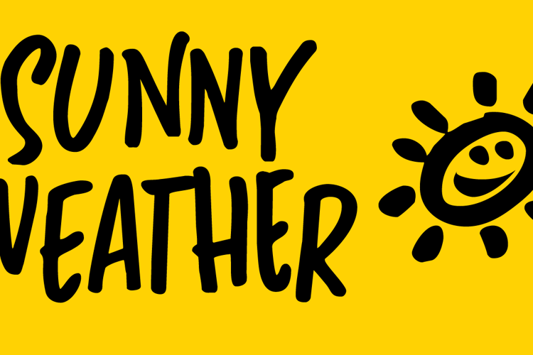 Sunny Weather Font