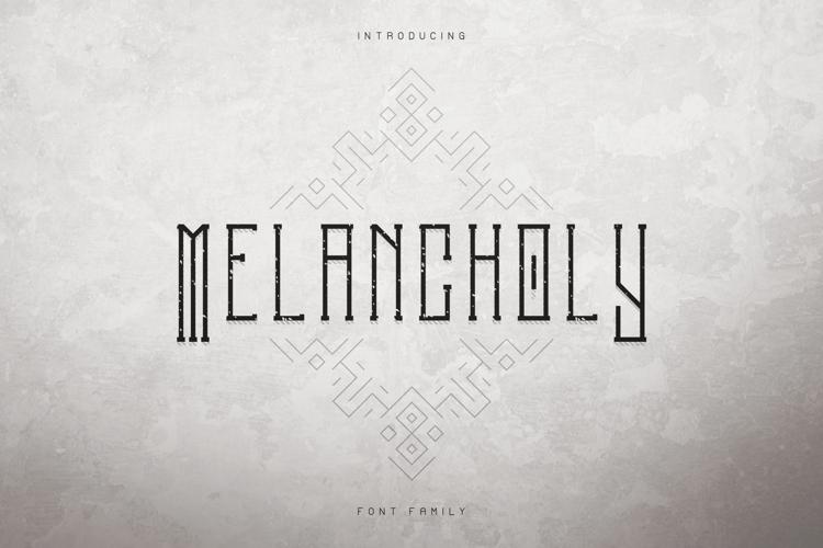 Melancholy Outline Font