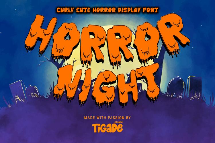 Horror Night Drip Font