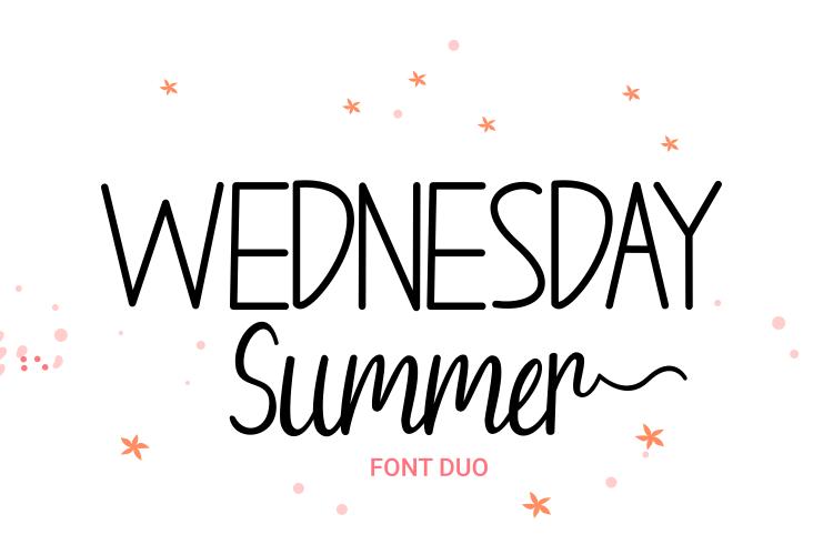Wednesday Summer Script Font