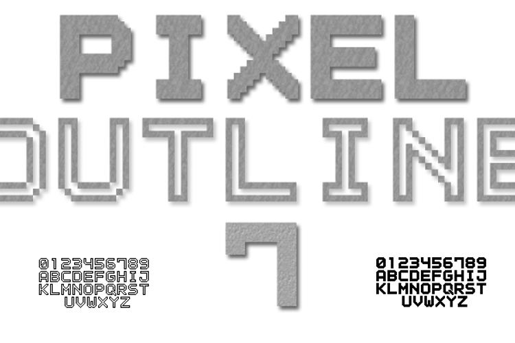 Outline Pixel7 Solid Font
