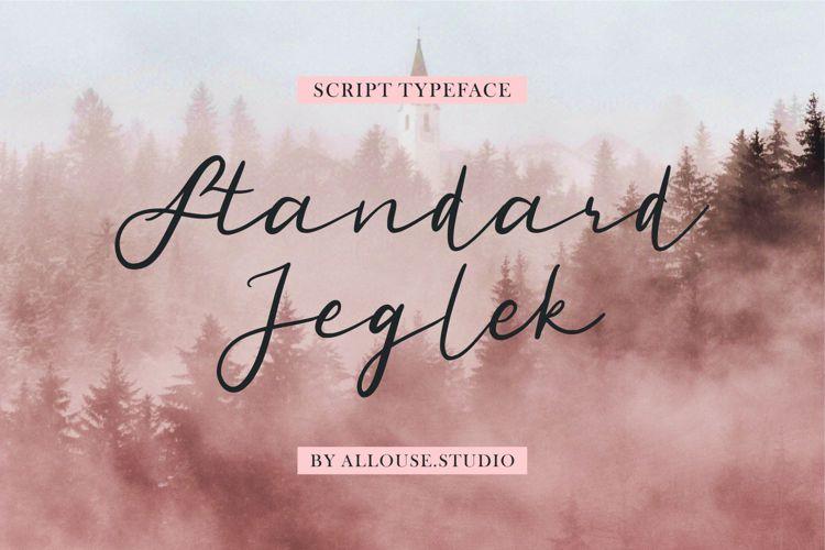 Standard Jeglek Version Font