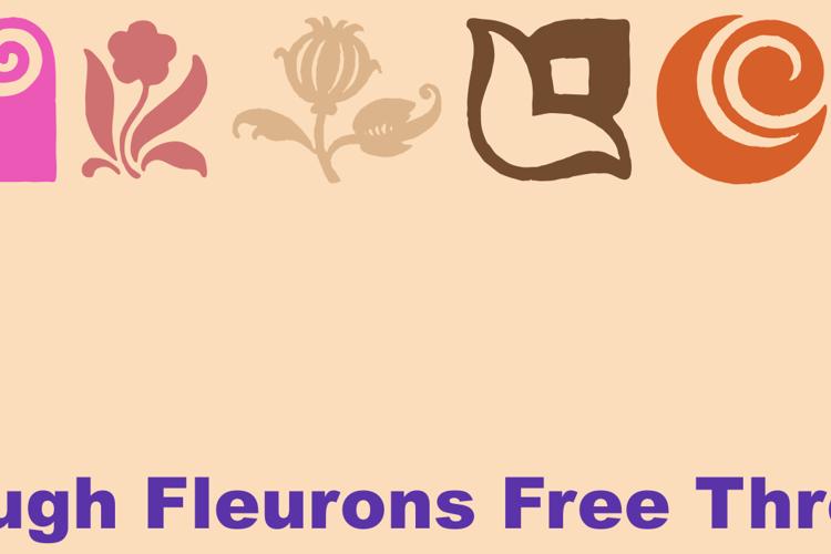 Rough Fleurons Free Three Font
