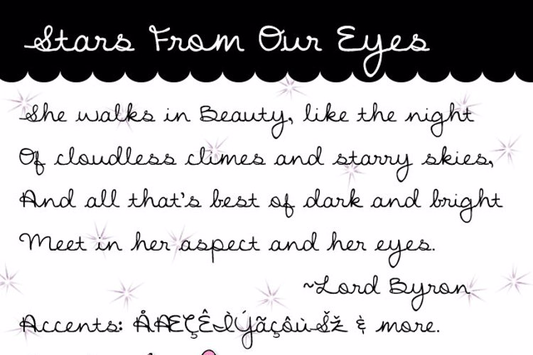 Stars From Our Eyes Font