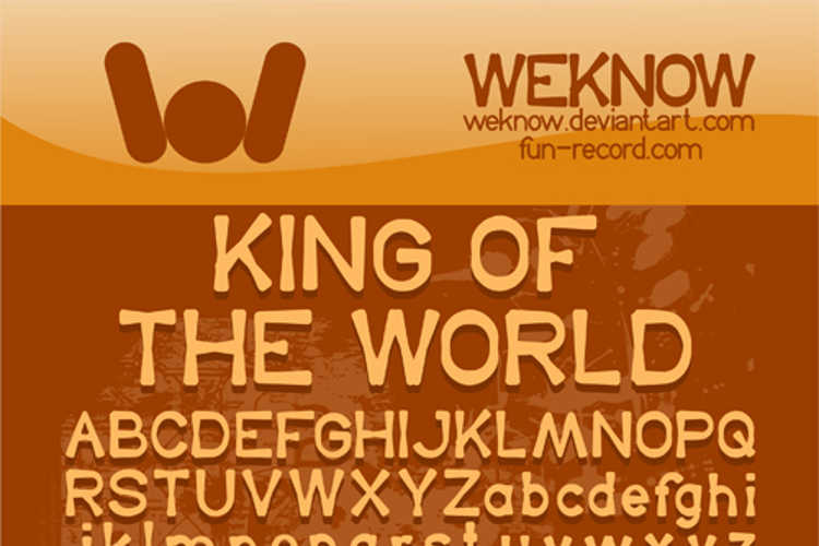 King Of The World Font