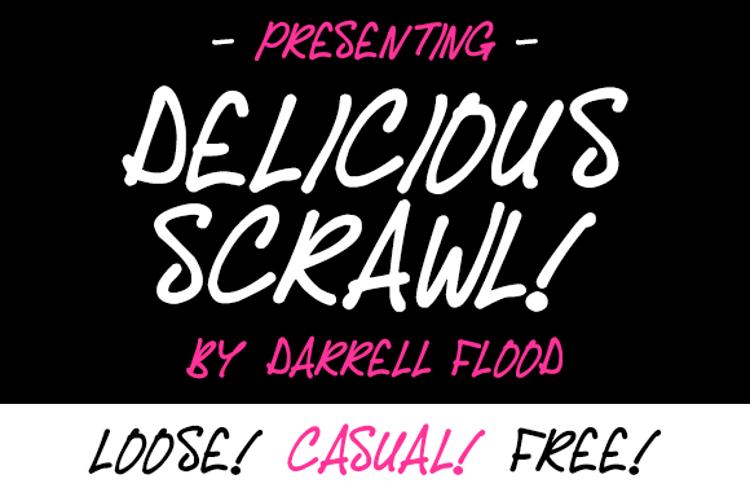 Delicious Scrawl Font