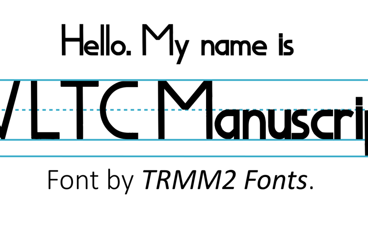 WLTCManuscript Font