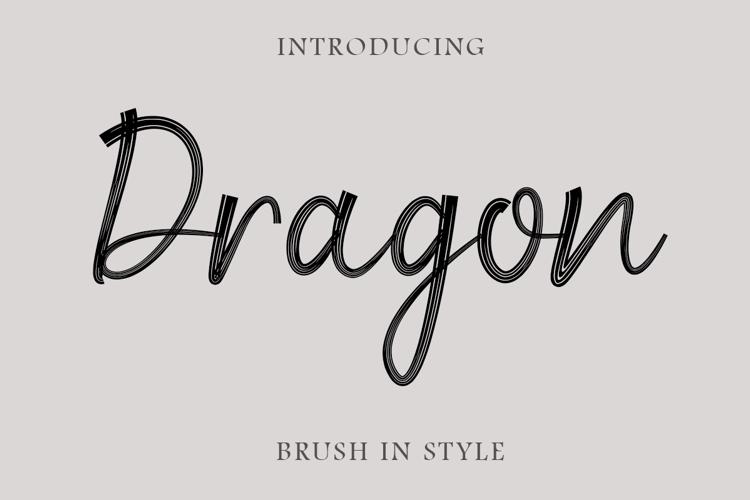 Dragon Brush Script Font