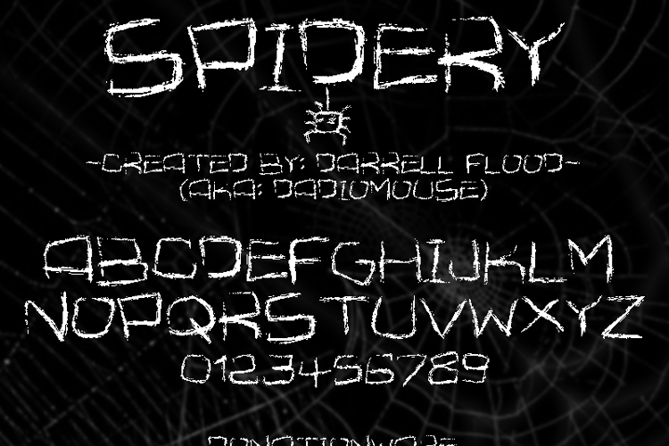 Spidery Font