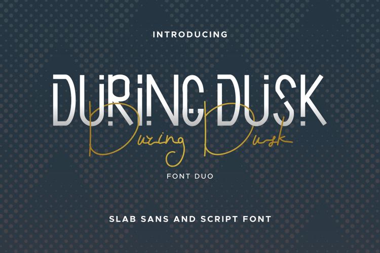 During Dusk Sans Font
