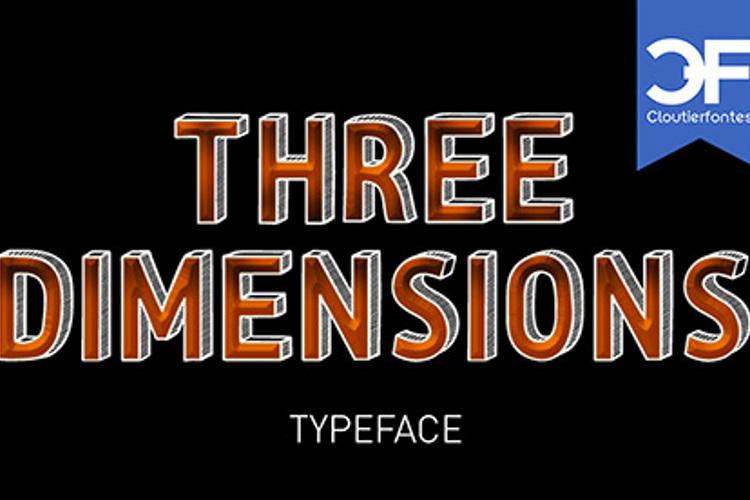 CF Three Dimensions Font