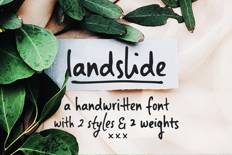 Landslide Sample Font