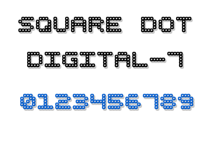 Square Dot Digital-7 Font