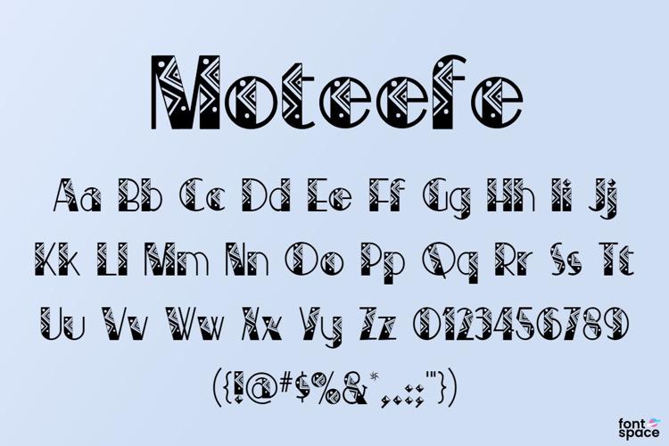 Moteefe Font