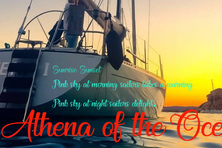 Athena of the Ocean Font