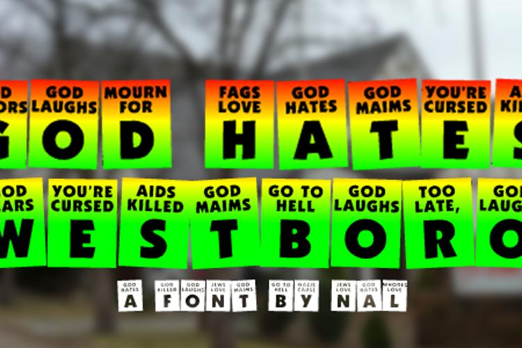 God Hates Westboro Font