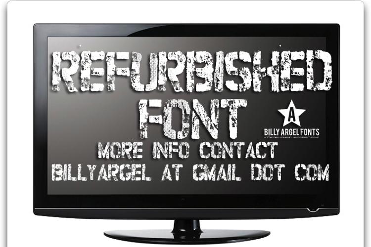 refurbished Font