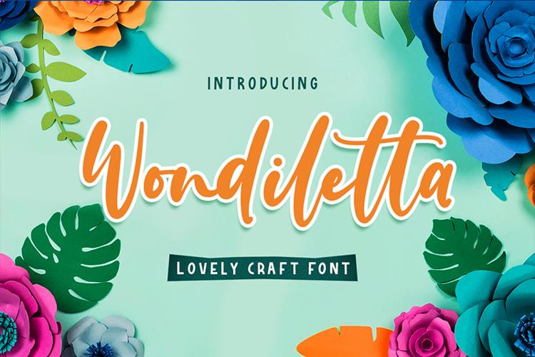 Wondiletta Font