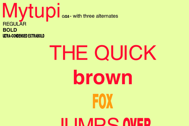 Mytupi Font