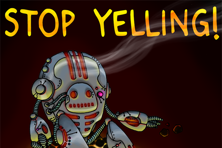 Stop Yelling Font
