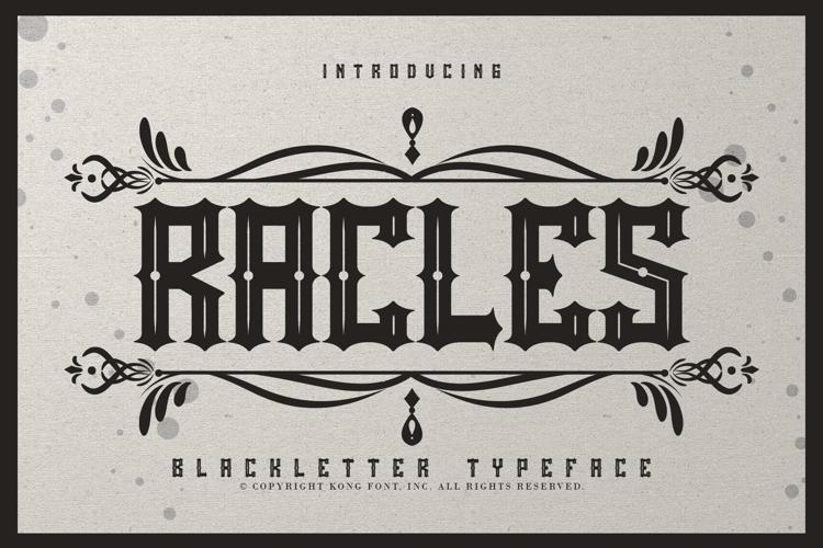 Rackles Font