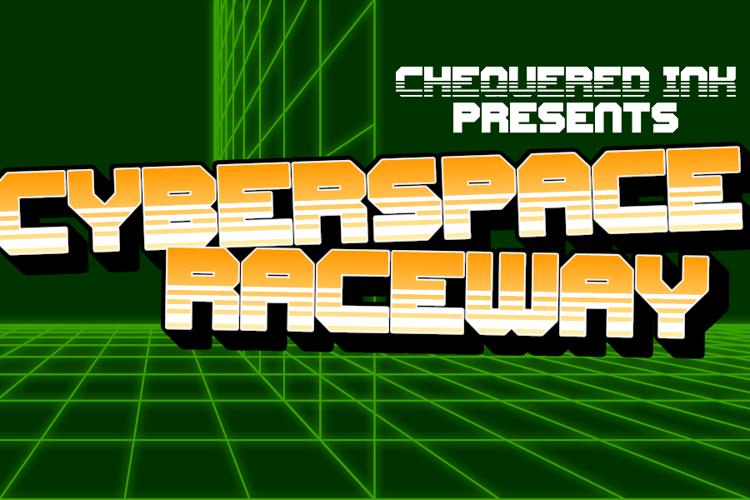 Cyberspace Raceway Back Font