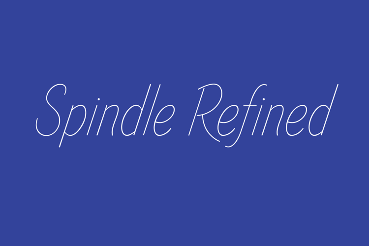 Spindle Refined Font