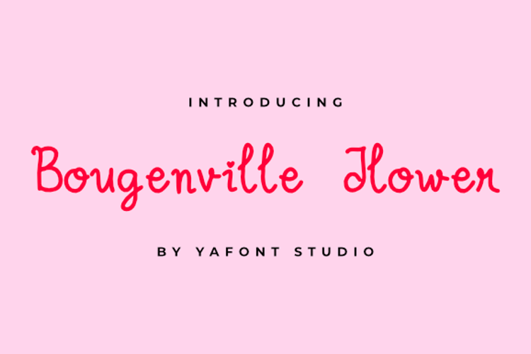Bougenville Flowers Font
