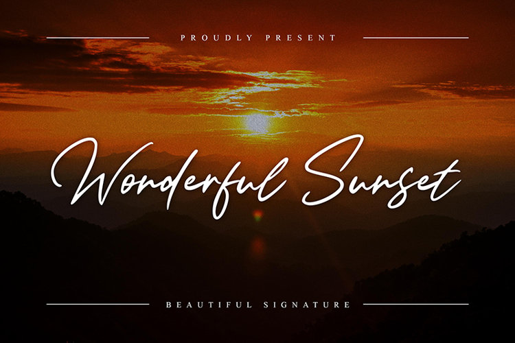 Wonderful Sunset Font