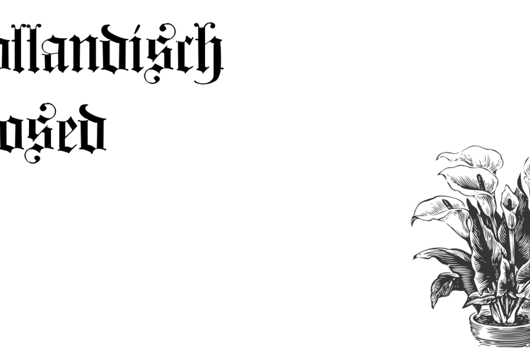 Hollandisch Closed Font