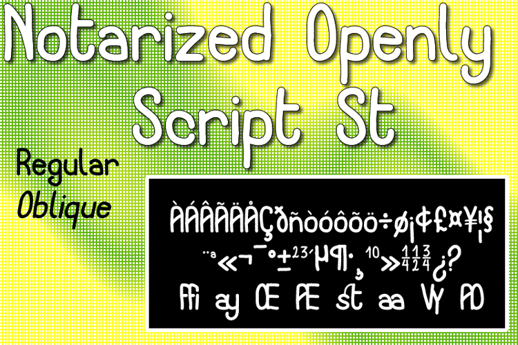 Notarized Openly Script St Font