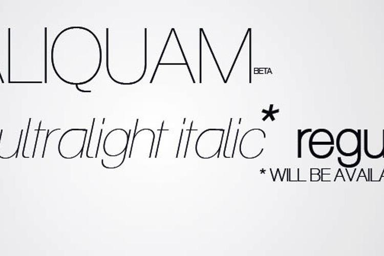 Aliquam Font