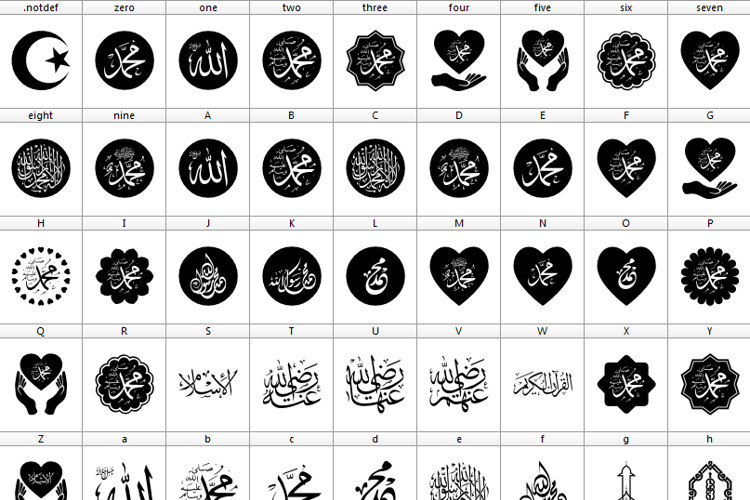 Mohammad Rasool Allah Font