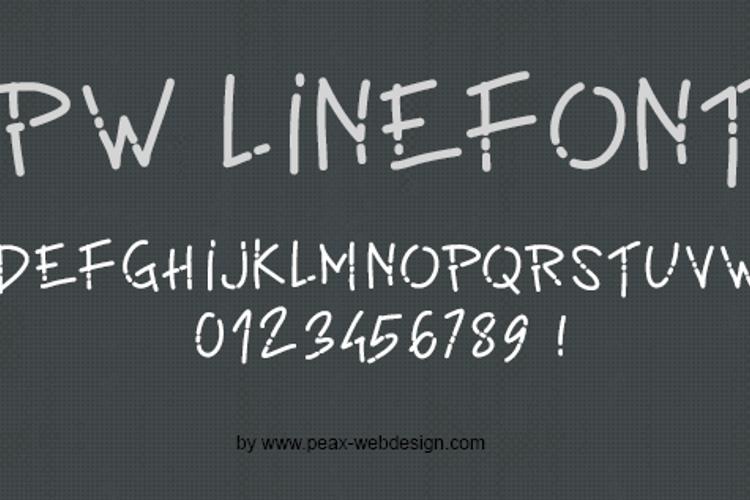 PWLinefont Font