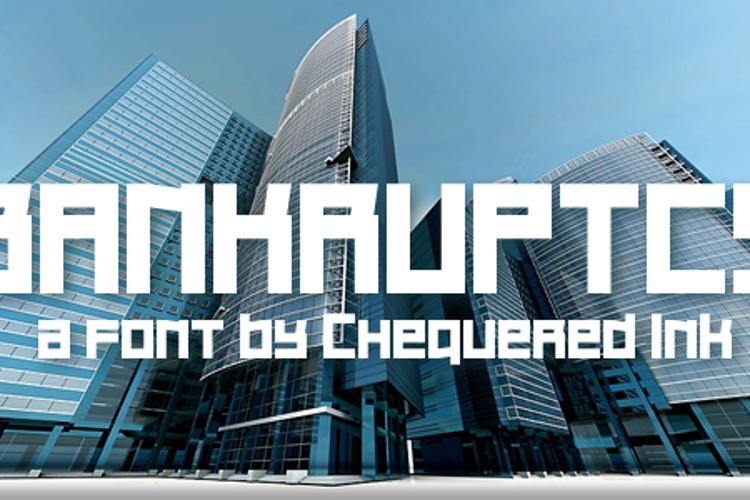 Bankruptcy Font