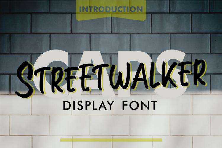 Streetwalker Caps Font
