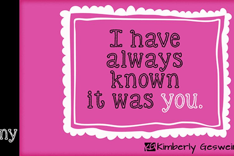 KG Skinny Love Font