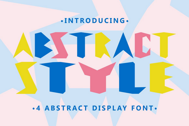 Abstract Style Font