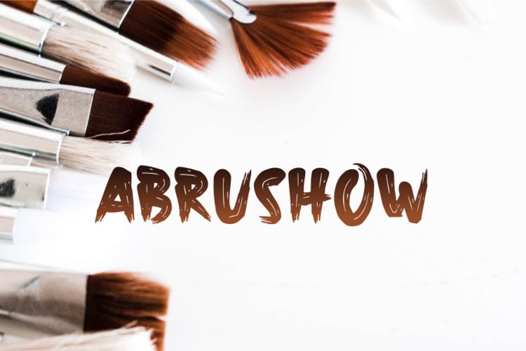 a Abrushow Font