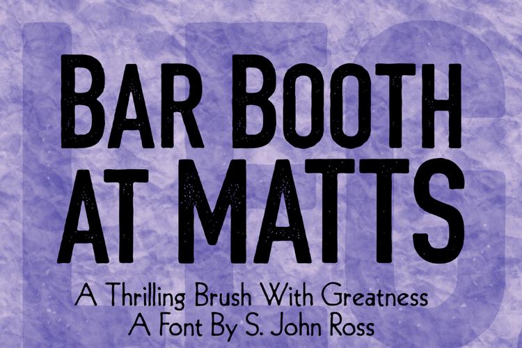 Bar Booth at Matts Font