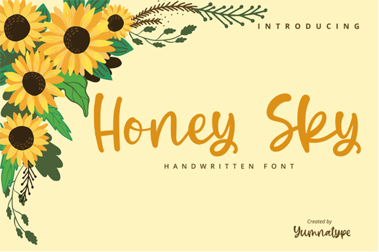 Honey Sky Font