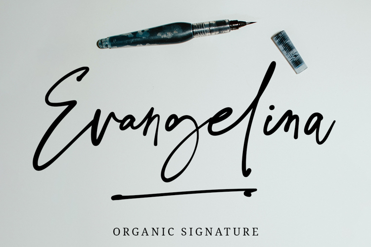 Evangelina Signature Font