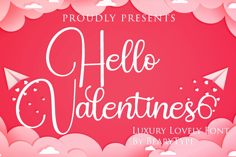 Hello Valentines Font