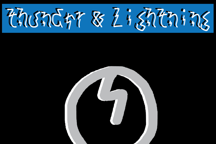 thunder and lightning Font