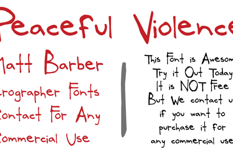PeacefulViolence Font