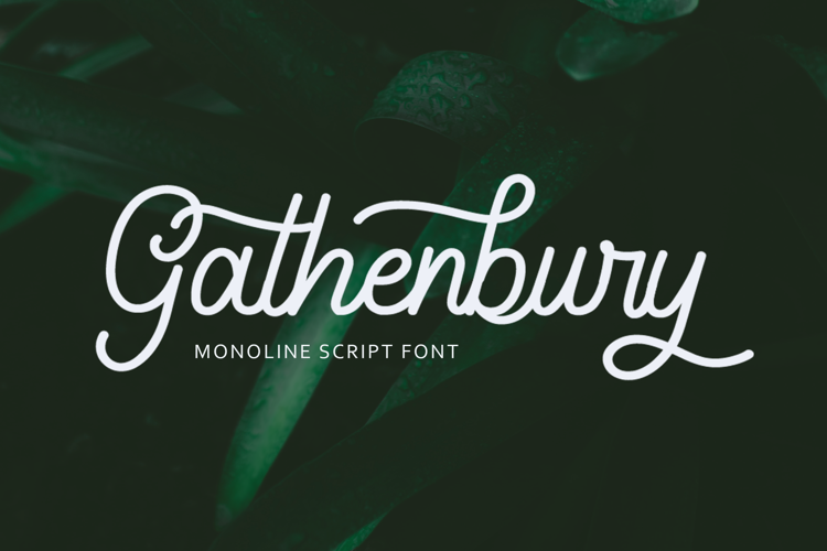Gathenbury Monoline Script Font