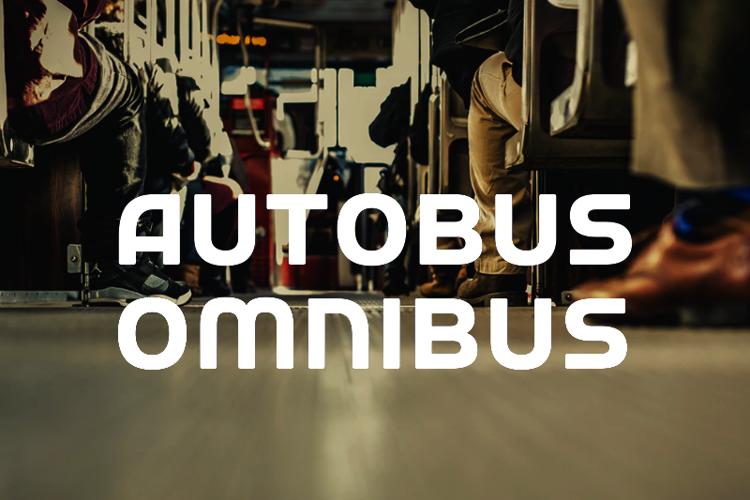 a Autobus Omnibus Font