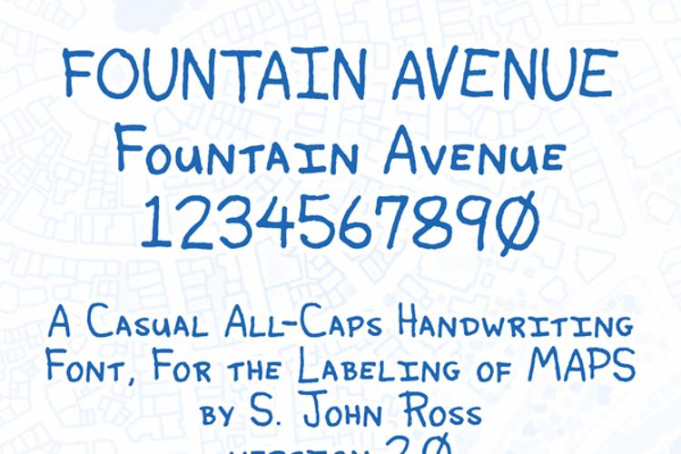 Fountain Avenue Font