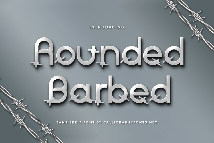 Rounded Barbed Font